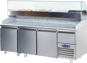 3 Kapılı Pizza Hazırlık Buzdolabı