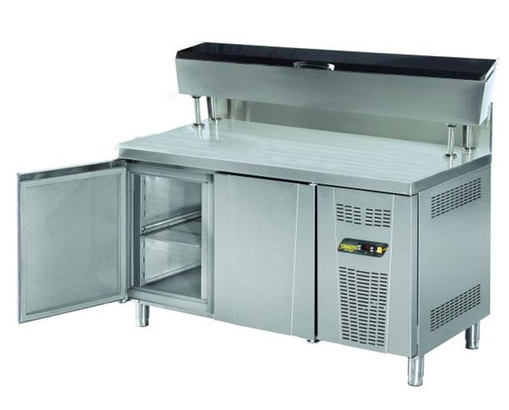 Pizza ve Salata Hazırlık Buzdolabı Yüksek Borulu 2 Kapılı