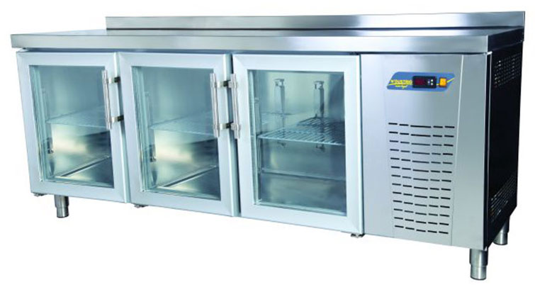 Tezgah Tipi 3 Cam Kapılı Buzdolabı