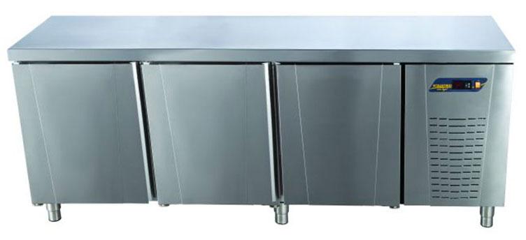 Tezgah Tipi Buzdolabı Düz Tablalı 3 Kapılı
