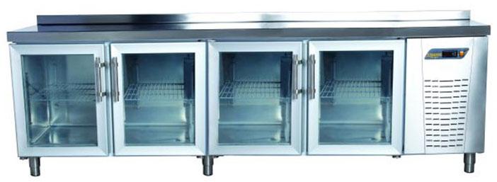 Tezgah Tipi 4 Cam Kapılı Buzdolabı