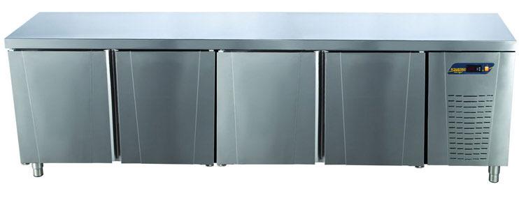 Tezgah Tipi Difriz Buzdolabı Düz Tablalı 4 Kapılı