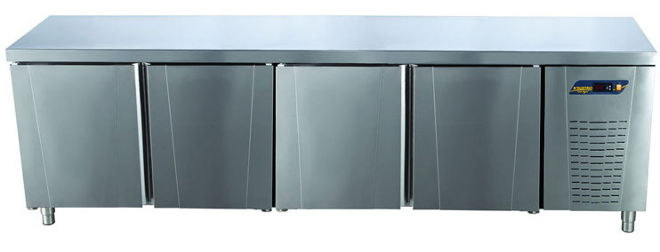 Tezgah Tipi Buzdolabı Düz Tablalı 4 Kapılı