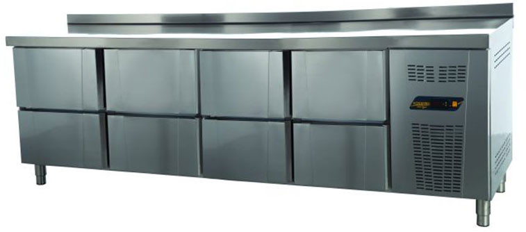 Tezgah Tipi 8 Çekmeceli Buzdolabı