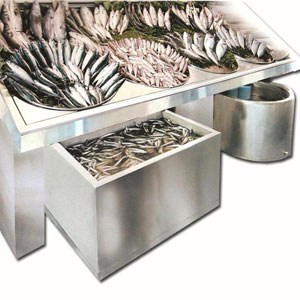 Hazneli Özel Üretim Balık Reyonu